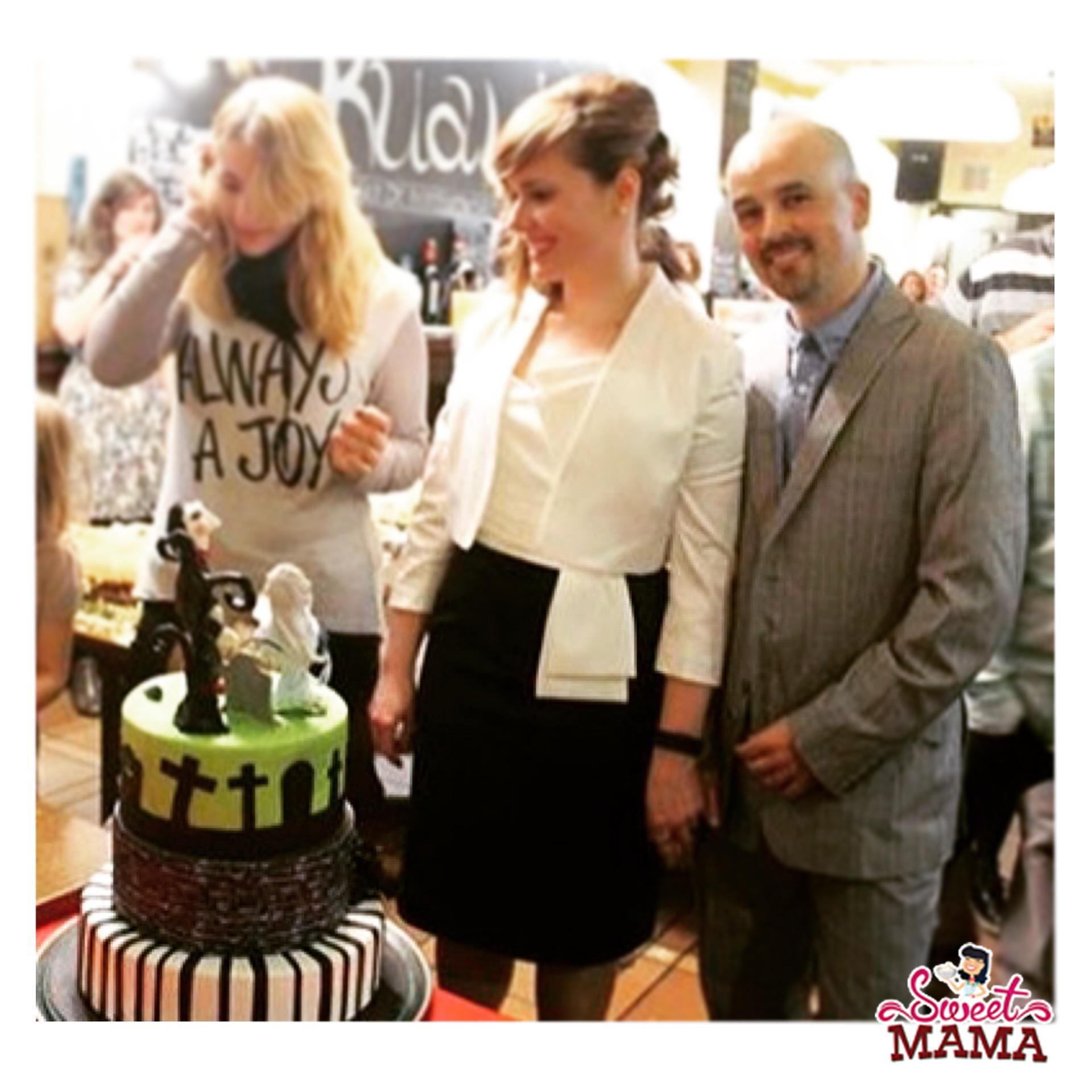sweetmama sonia y rafa pastel boda novia cadaver saw terrassa