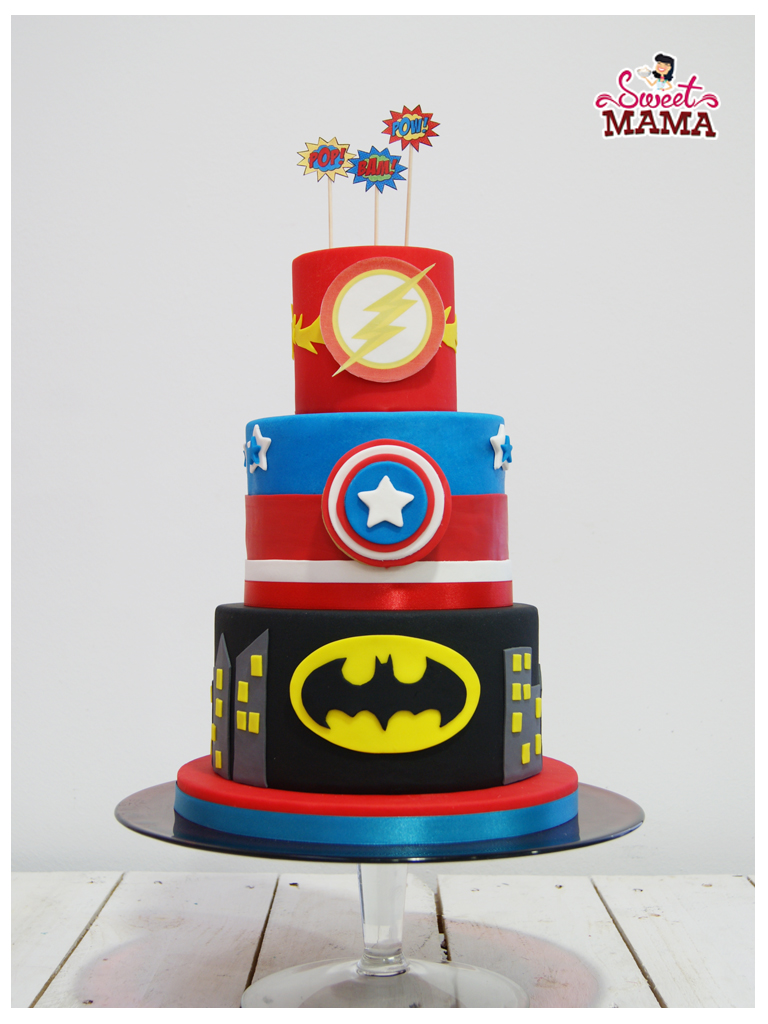 sweetmama-tarta-batman-capitan-america-flash-fondant-logo