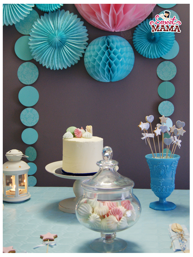 Mesa dulce en azules para un 35 cumplea os sweetmama for Mesas dulces cumpleanos