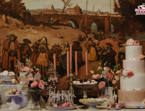 Mesa Dulce Vintage y Romática en el Poble Espanyol.